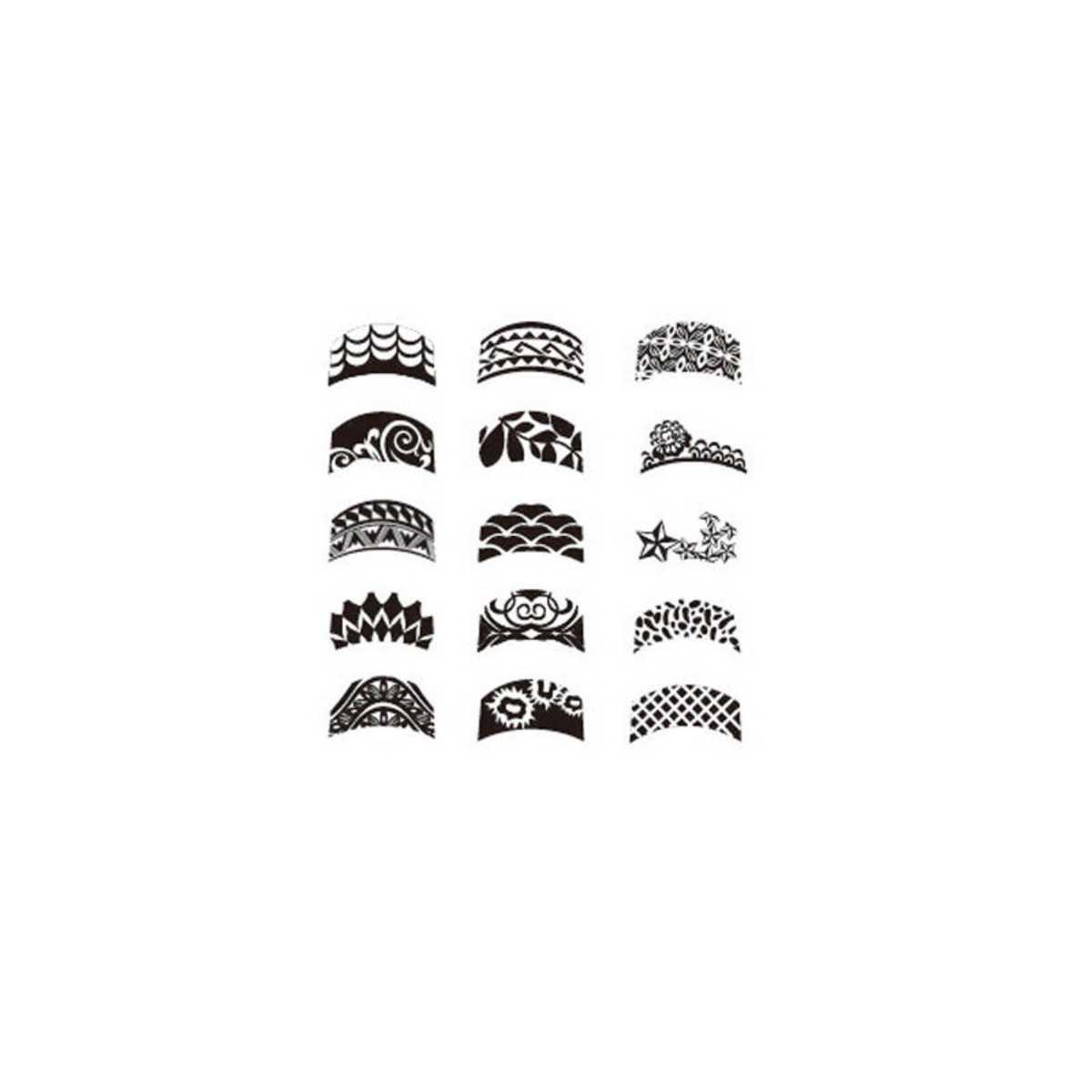 Dentelle Dessin plaque de stamping french quadrillage, dentelle, dessin aztèque