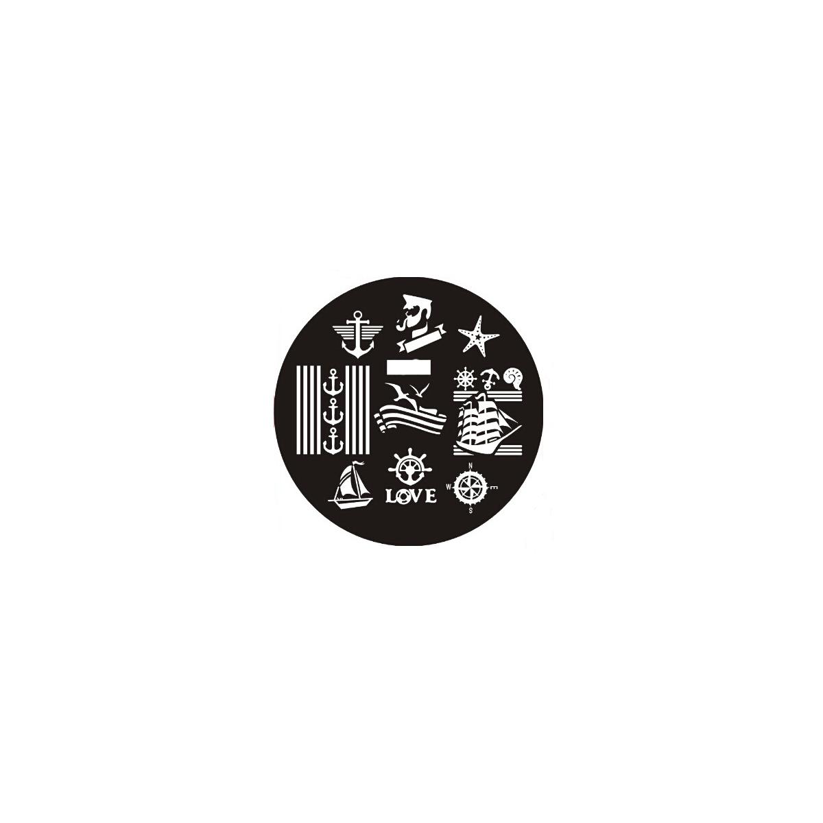 Plaque de stamping motifs marins mer ancre marine - Dessiner une ancre marine ...