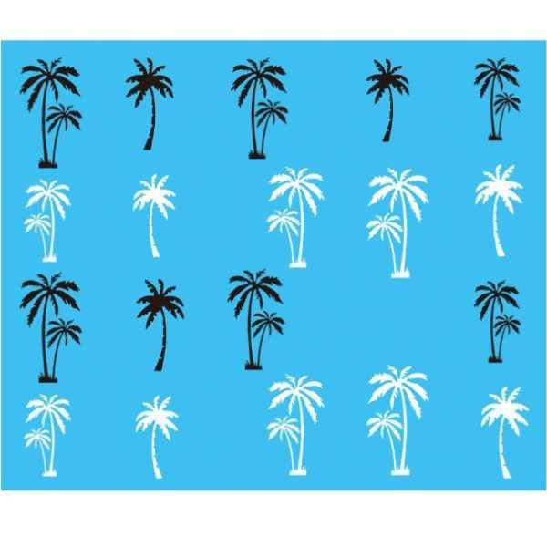 Stickers Water Decals palmier - Noir et Blanc