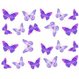 Stickers Water Decal Papillon - Violet
