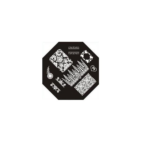Plaque de stamping Baroque, Arabesque et Dentelle