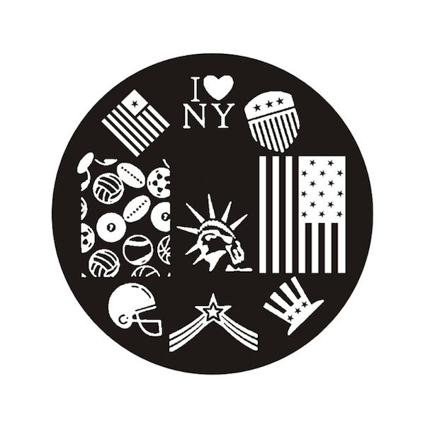Plaque de stamping New York, USA et Baseball