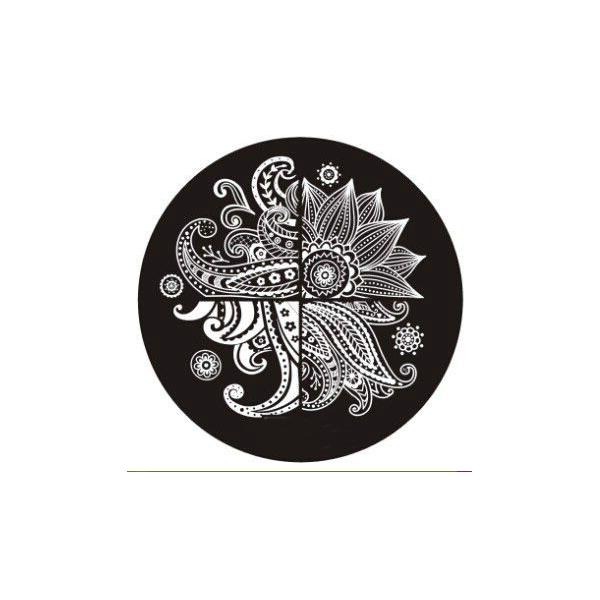 Plaque de stamping Arabesque Géante et Fleur