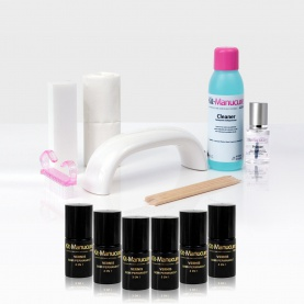 Kit Vernis semi permanent + Lampe UV LED - 6 Vernis au choix