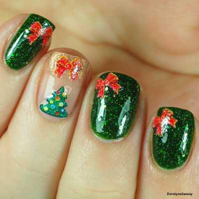 Stickers de Noël et Père Noël , Rouge et Vert