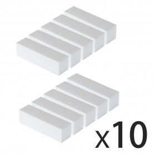 Lot de 10 Blocs Blancs / Polissoirs - Grain 100