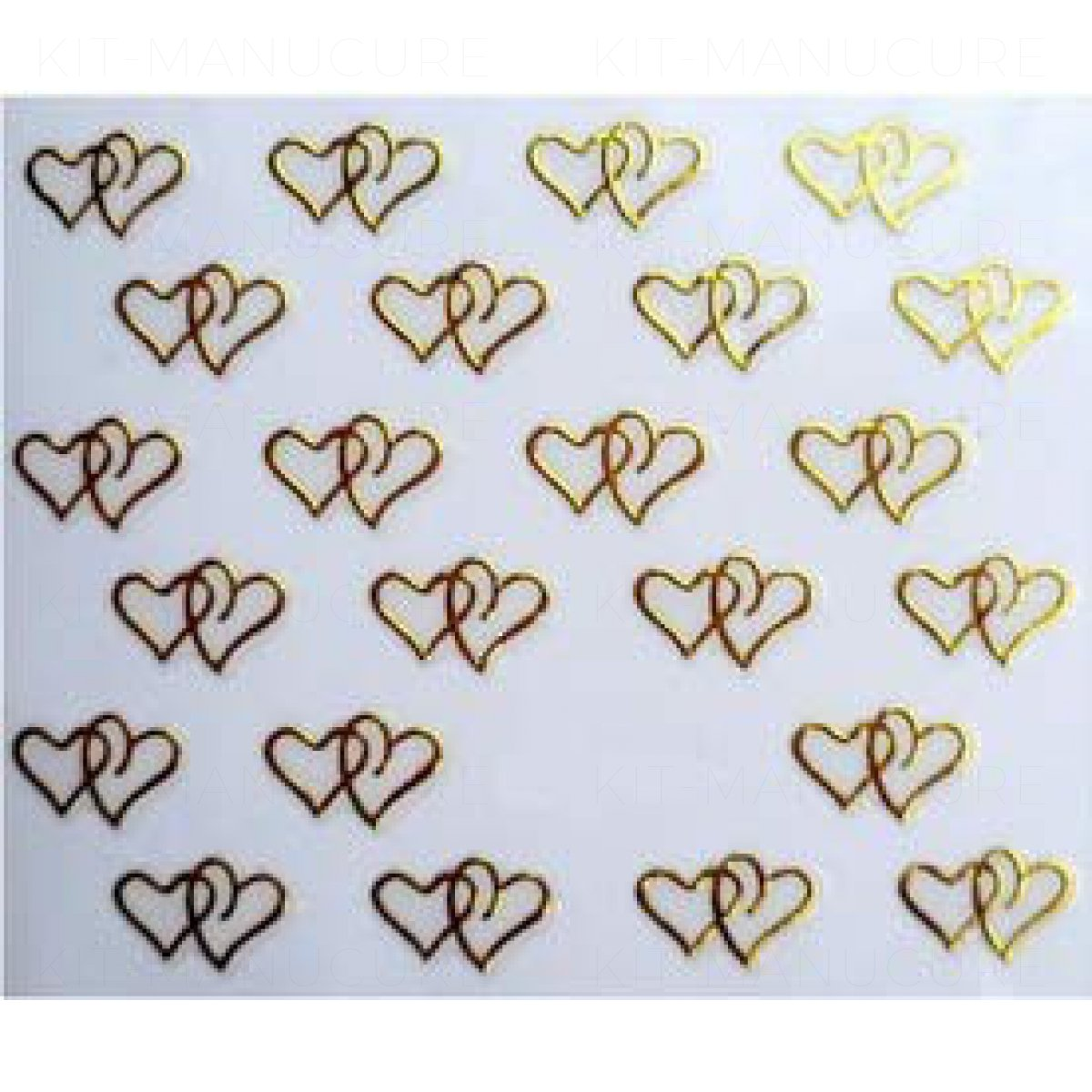 Stickers Ongle Coeur Dor