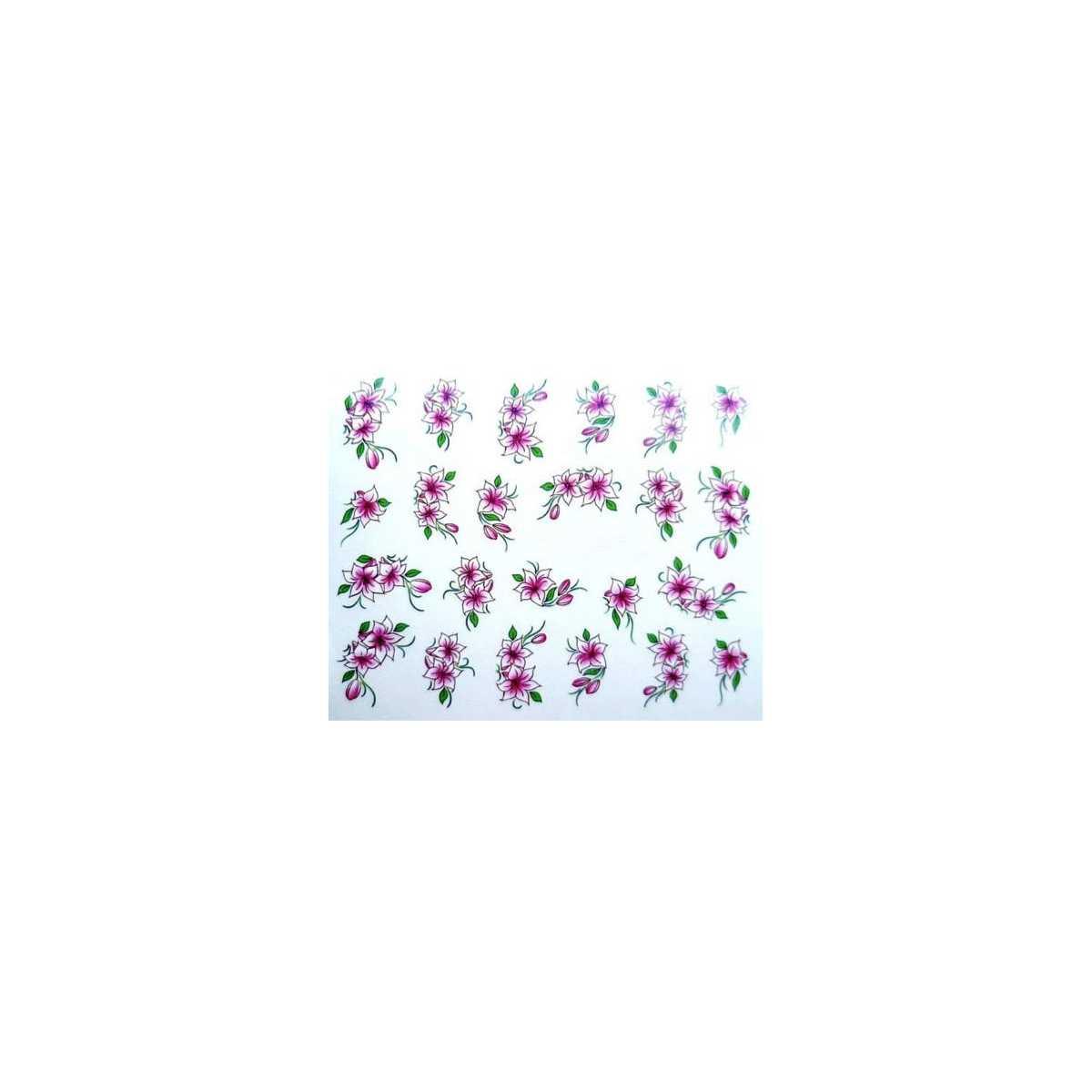 Water Decals Fleurs De Lys Blanc Et Rose