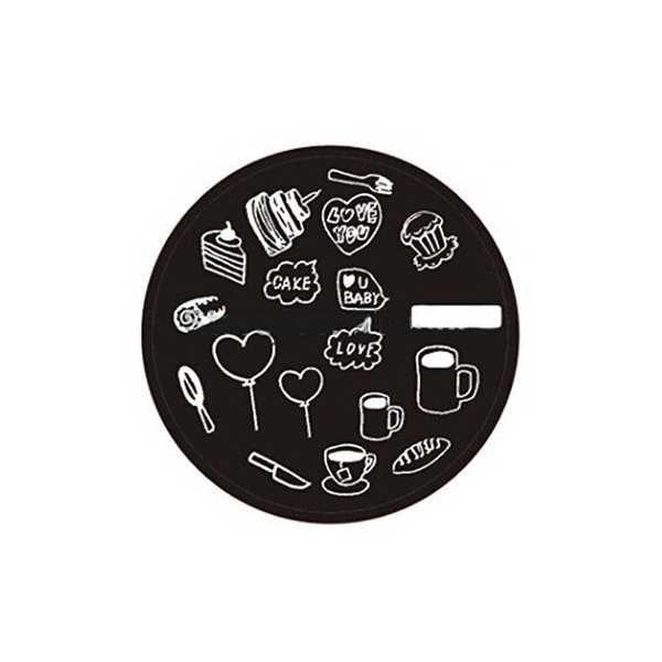 Plaque de stamping Gâteau, Café, Coeur et Messages