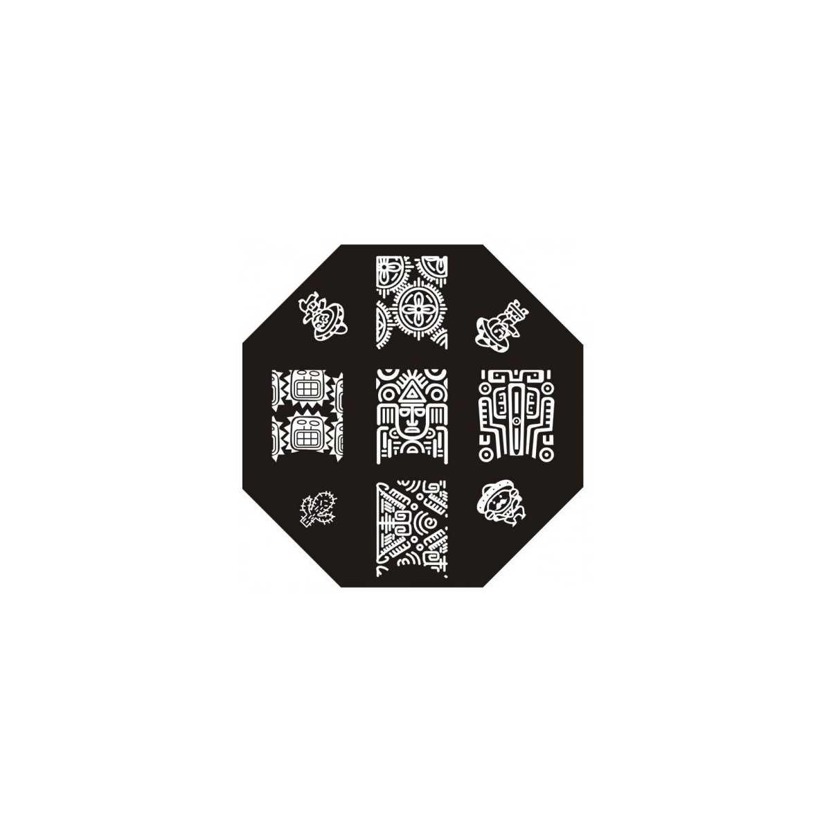 Plaque de stamping azt que mexicains soleil et cactus - Image soleil rigolo ...