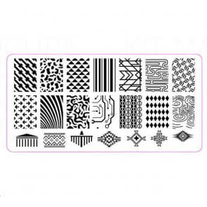 Plaque de stamping rectangulaires QXE