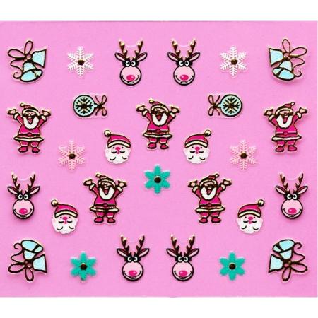Stickers ongle de Noël