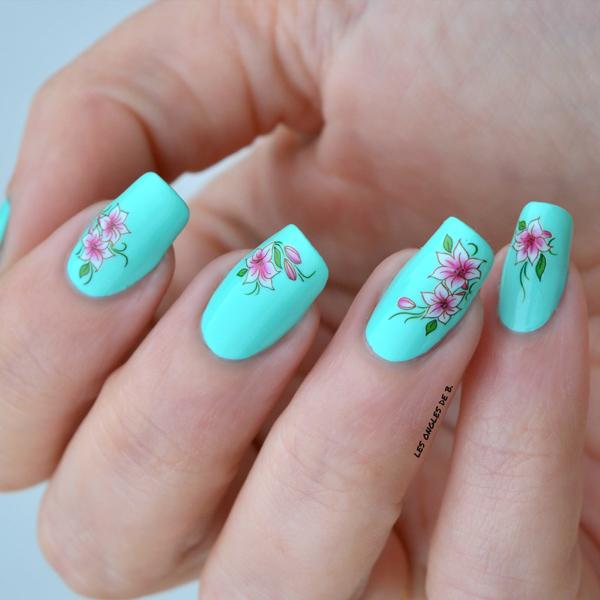 water decals fleurs de lys