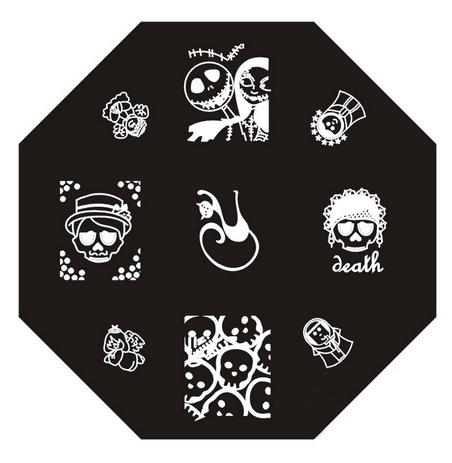 plaque de stamping halloween