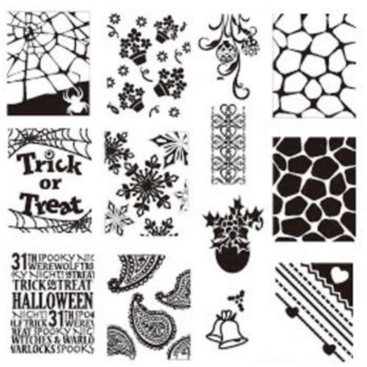 stamping nail art halloween