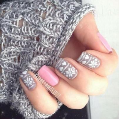 nail art style jacquard ongles