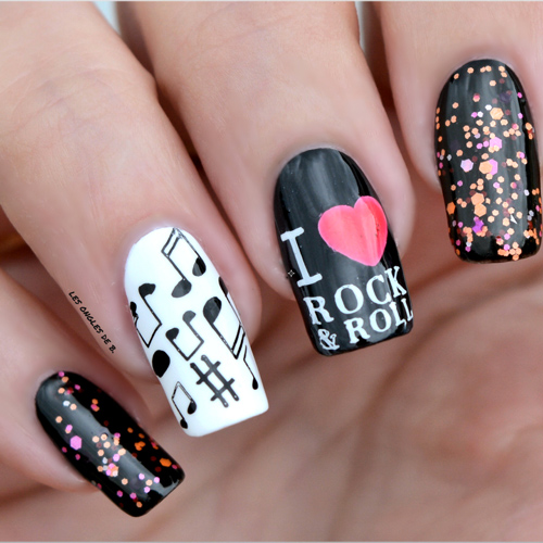 stamping nail art musique