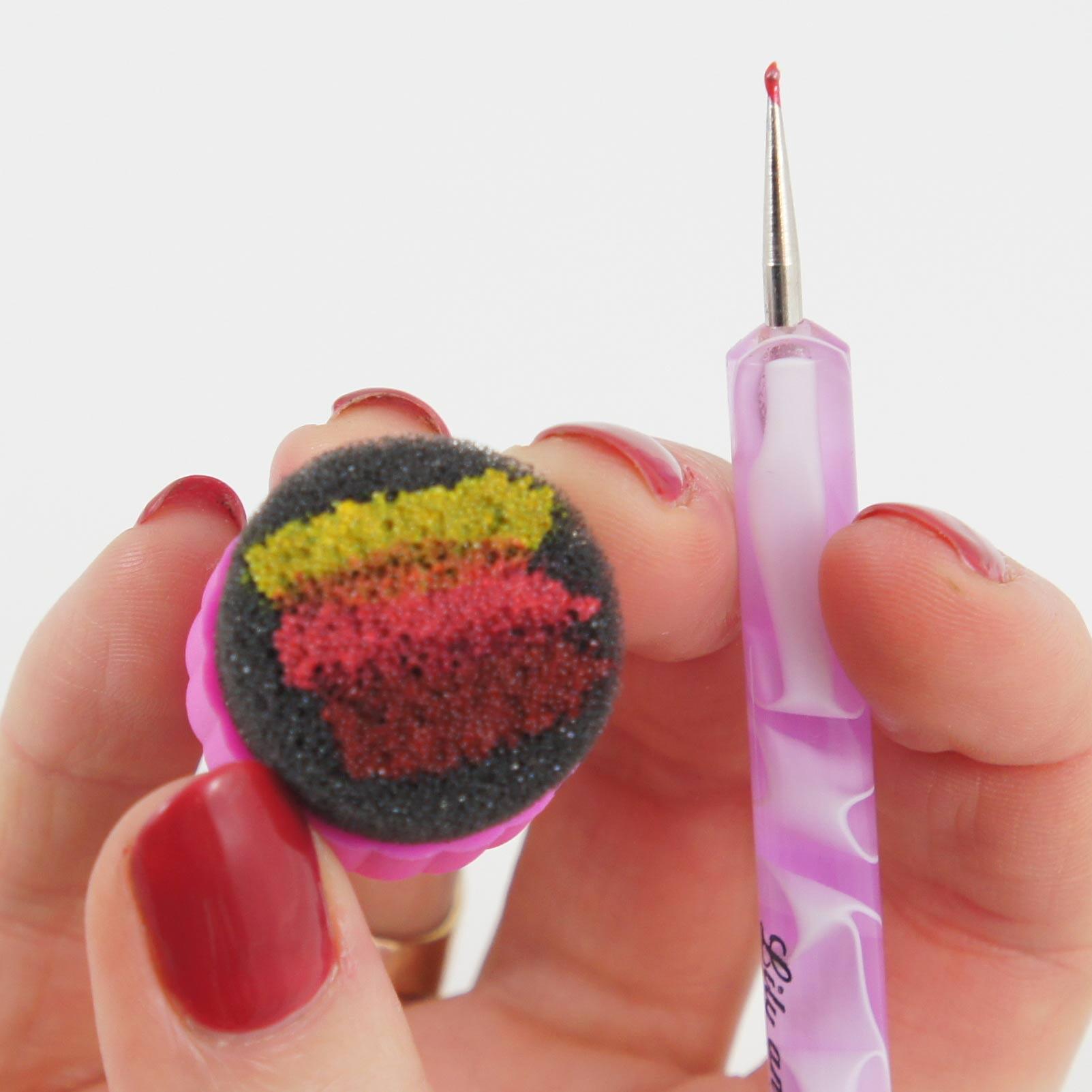 nail art à l'éponge